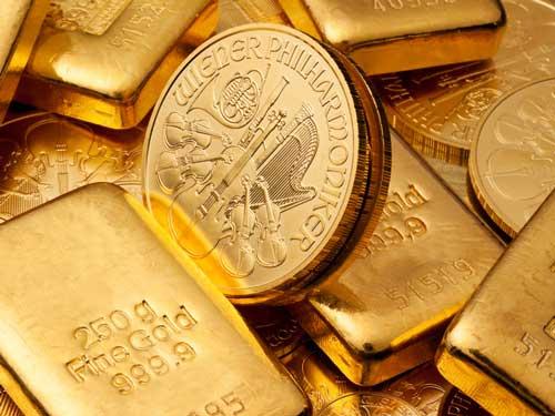 Verkauf von Gold Barren und Münzen
